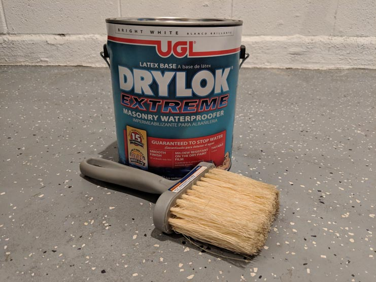 Waterproof your garage walls with Drylok Extreme