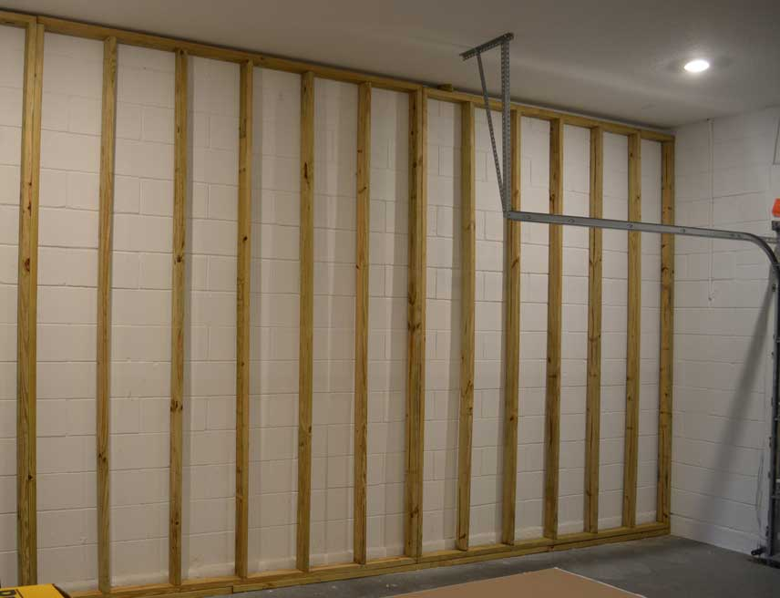 How To Frame Garage Walls Over Concrete Diy Guide With Photos Garage Transformed