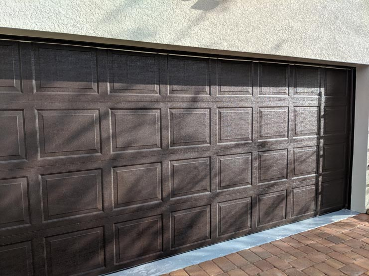 wax your garage door
