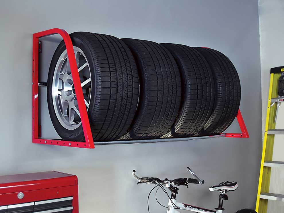 How to store tires in the garage