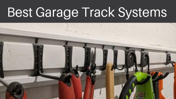 Track System for Odd-shaped Equipment | Garage Shelving Ideas For Ultimate Garage Organization | garage shelving ideas