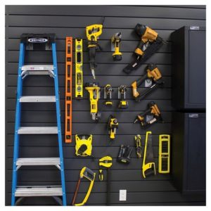 Tools on slatwall