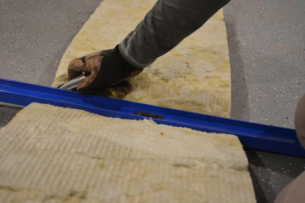 fiberglass batt insulation for the garage