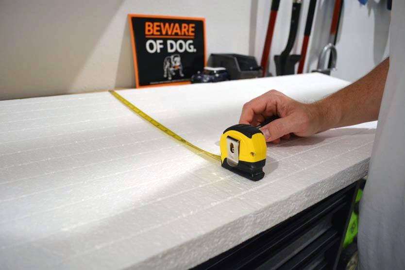foam board insulation for the garage door