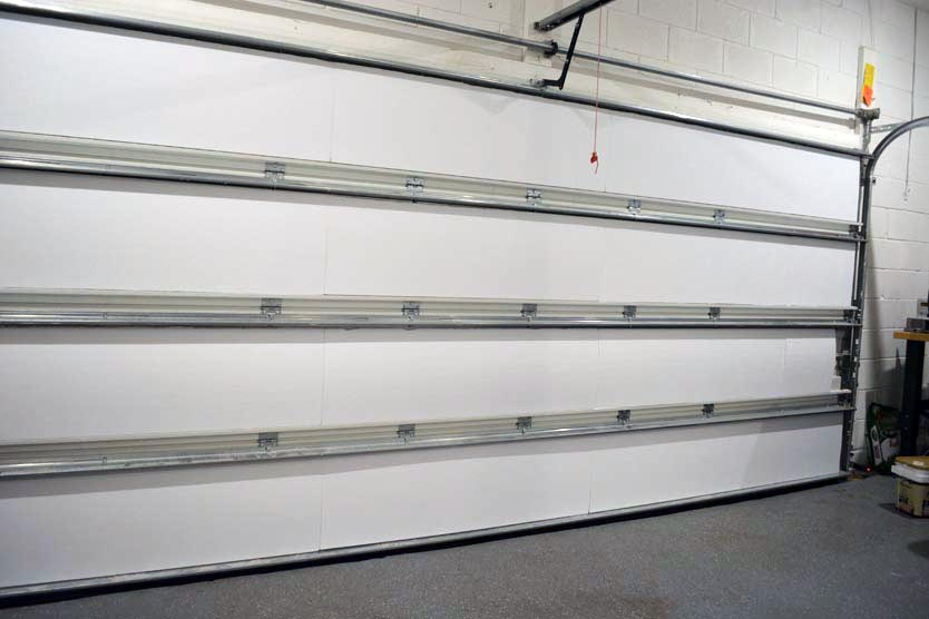 Matador garage door insulation kit installed