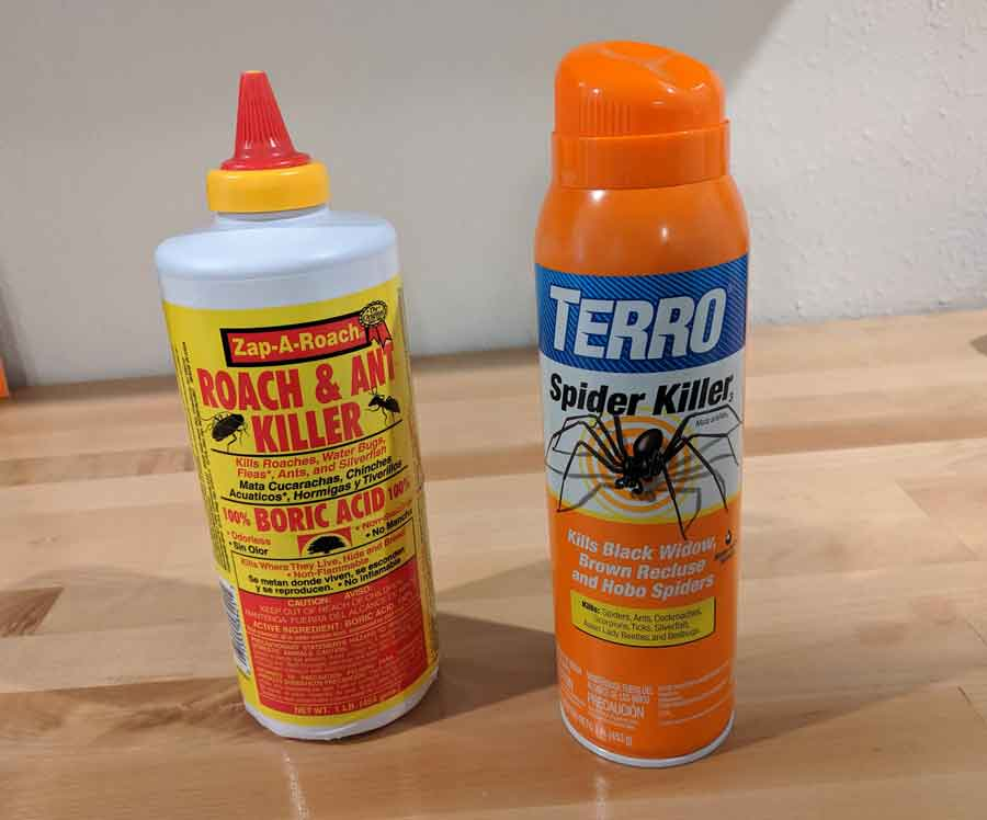 Kill spiders in your garage with Terro spider killer