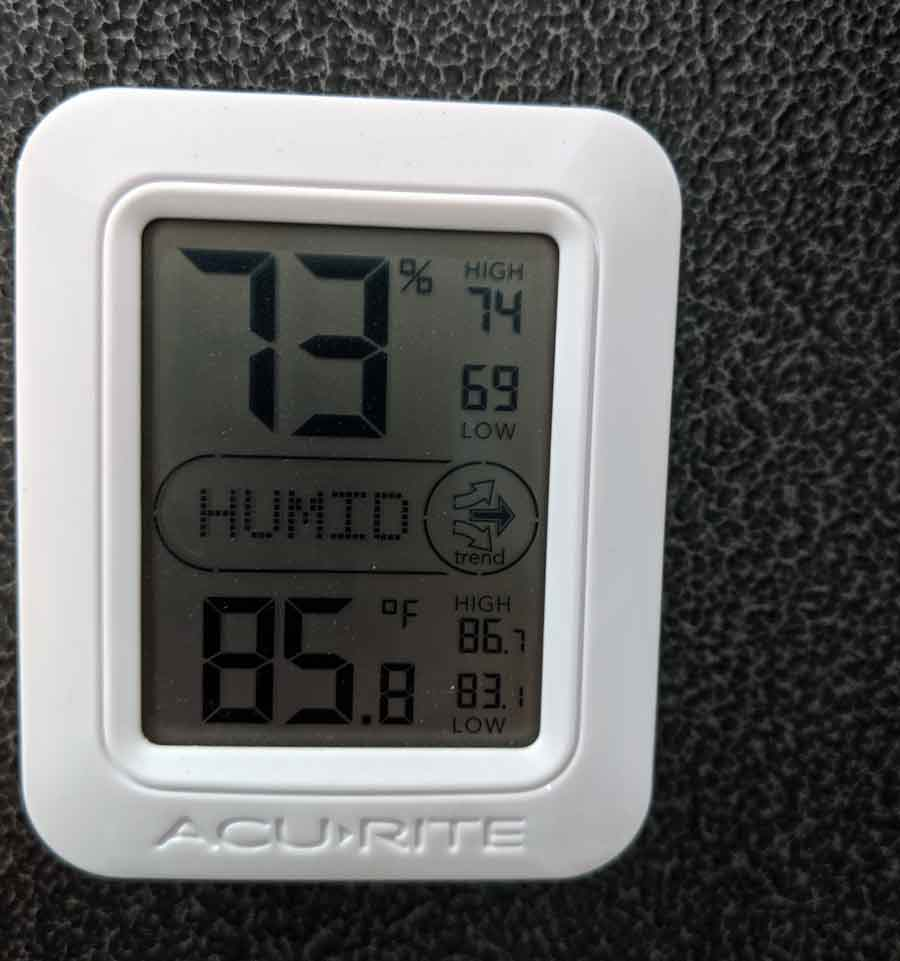 High humidity in your garage