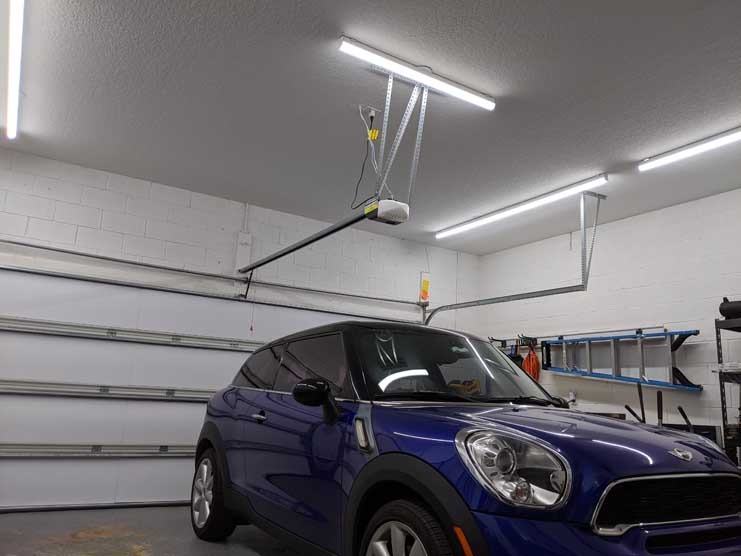 Hykolity garage lights installed
