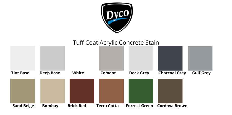 Dyco TUFF Coat colors