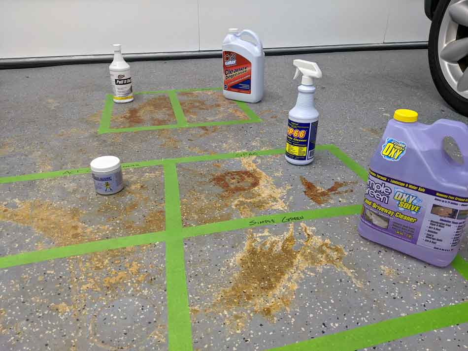 Testing the best concrete cleaners