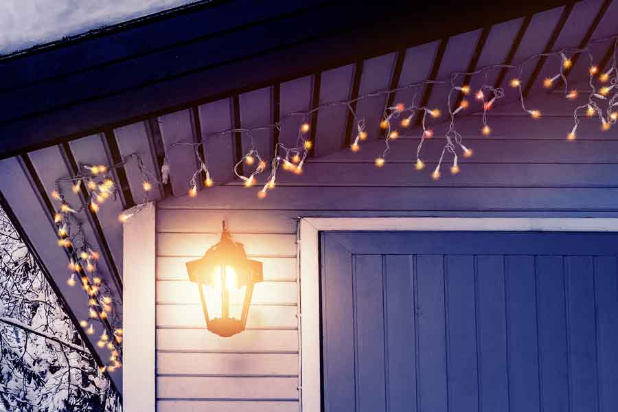 How to hang Christmas lights on your garage