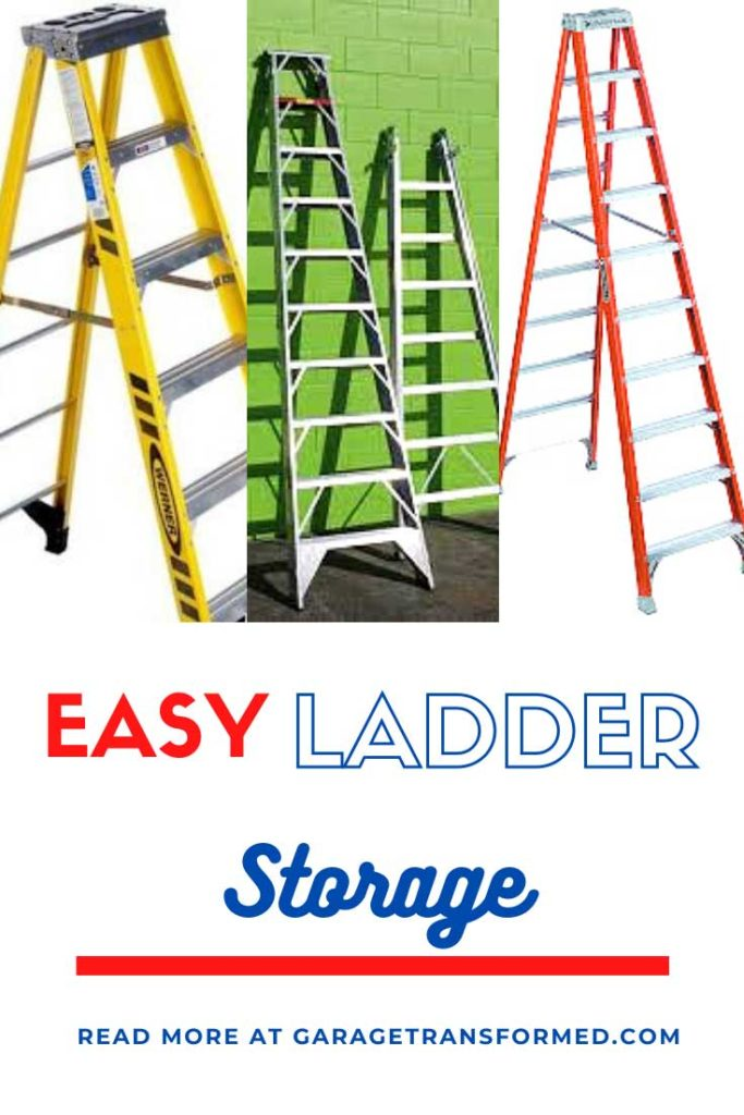 How to Store a Ladder in Your Garage