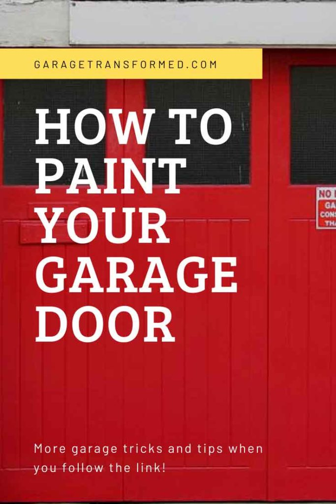 Should you paint your garage door?