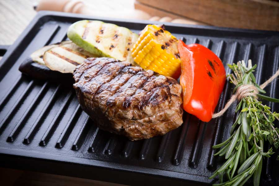meat on electric grill